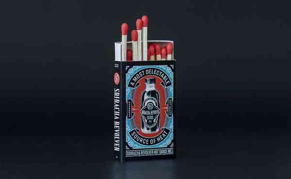 Sriracha Revolver Safety Matches