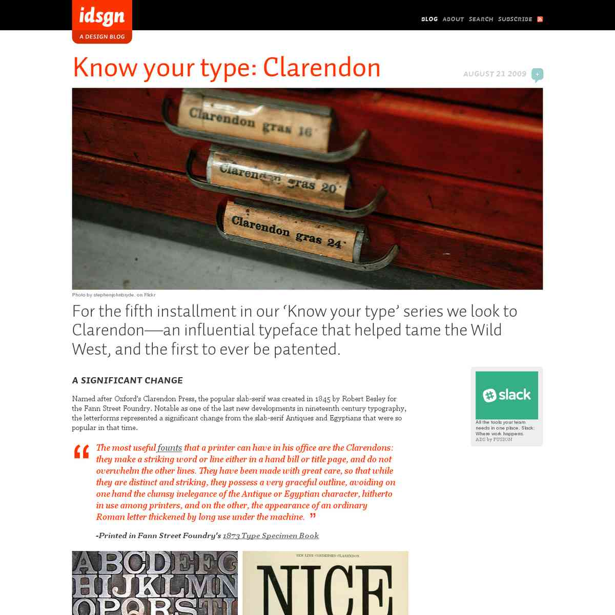 Know your type: Clarendon