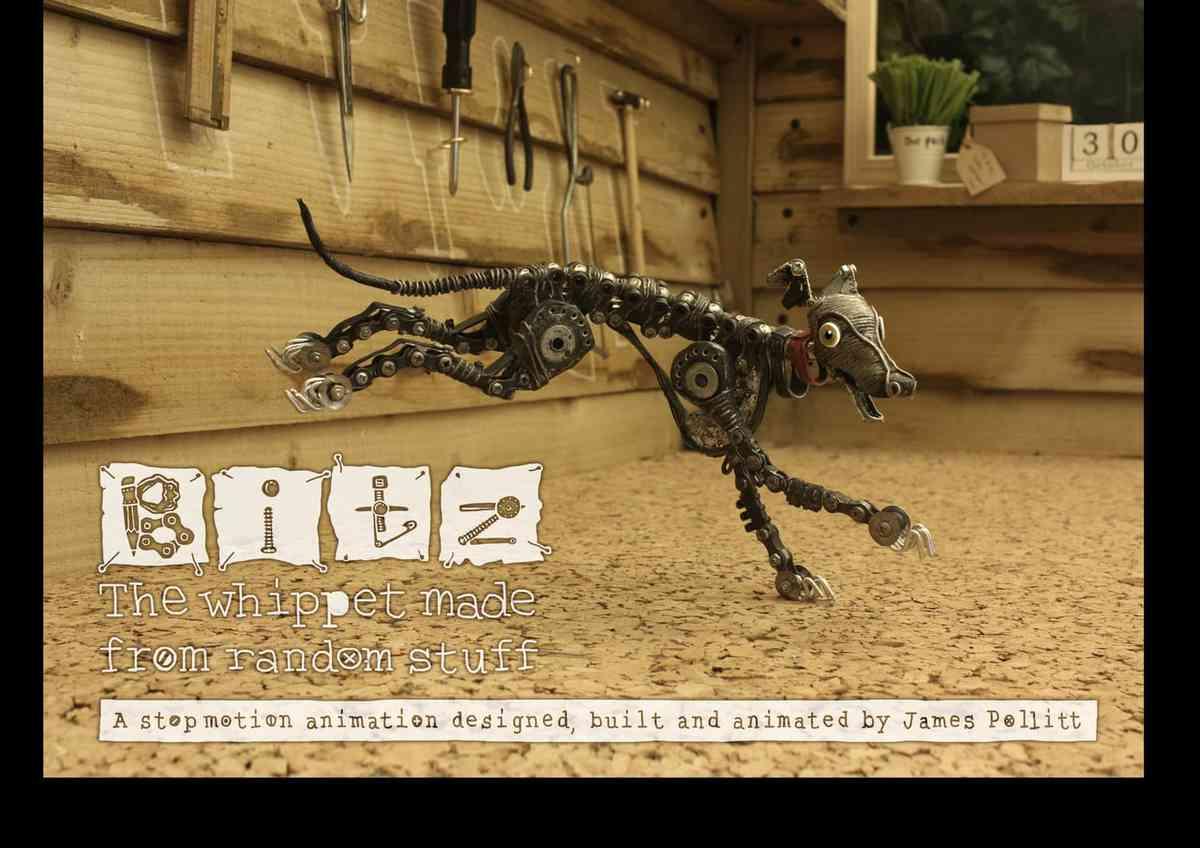 BITZ- The whippet made from random stuff...