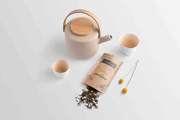 Hotleaf. Tea Branding Mockup