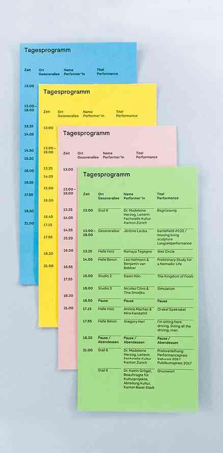 Performancepreis | Schedule