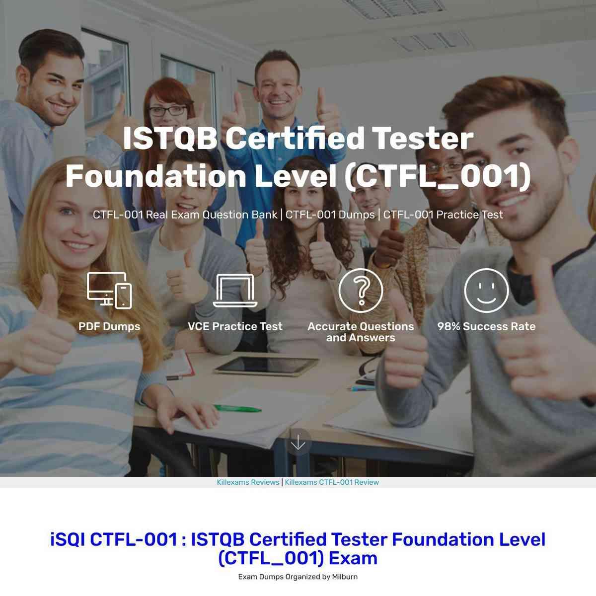 Full refund guarantee of CTFL-001 Exam Cram and vce
