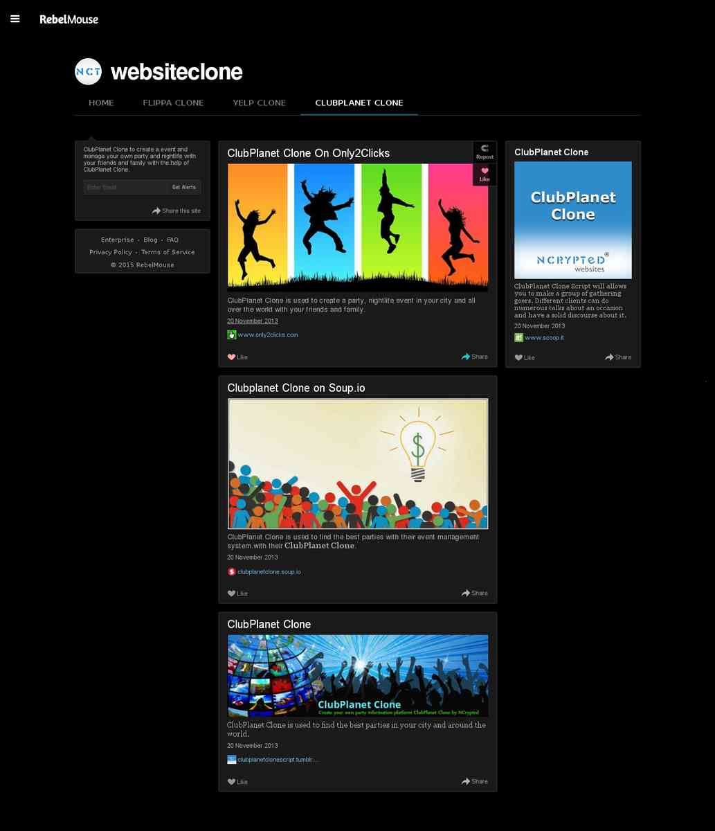 rebelmouse.com/websiteclones/ClubPlanet_Clone