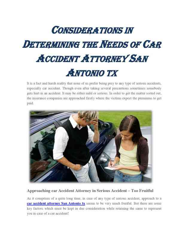 Determining the Needs of Car Accident Attorney