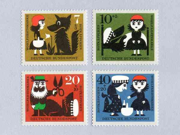 Red Riding Hood Stamp Set (1960)
