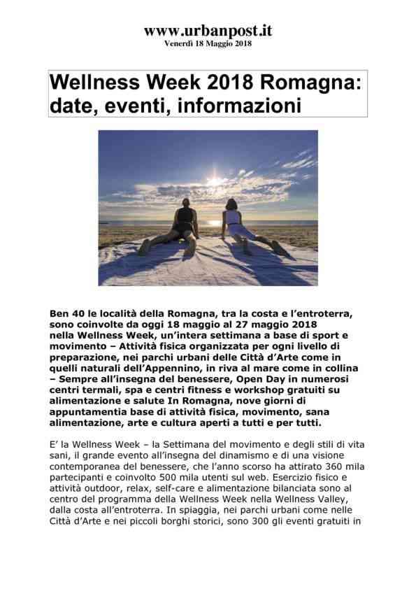 2018-05-18 Urbanpost_ Wellness Week 2018 Romagna