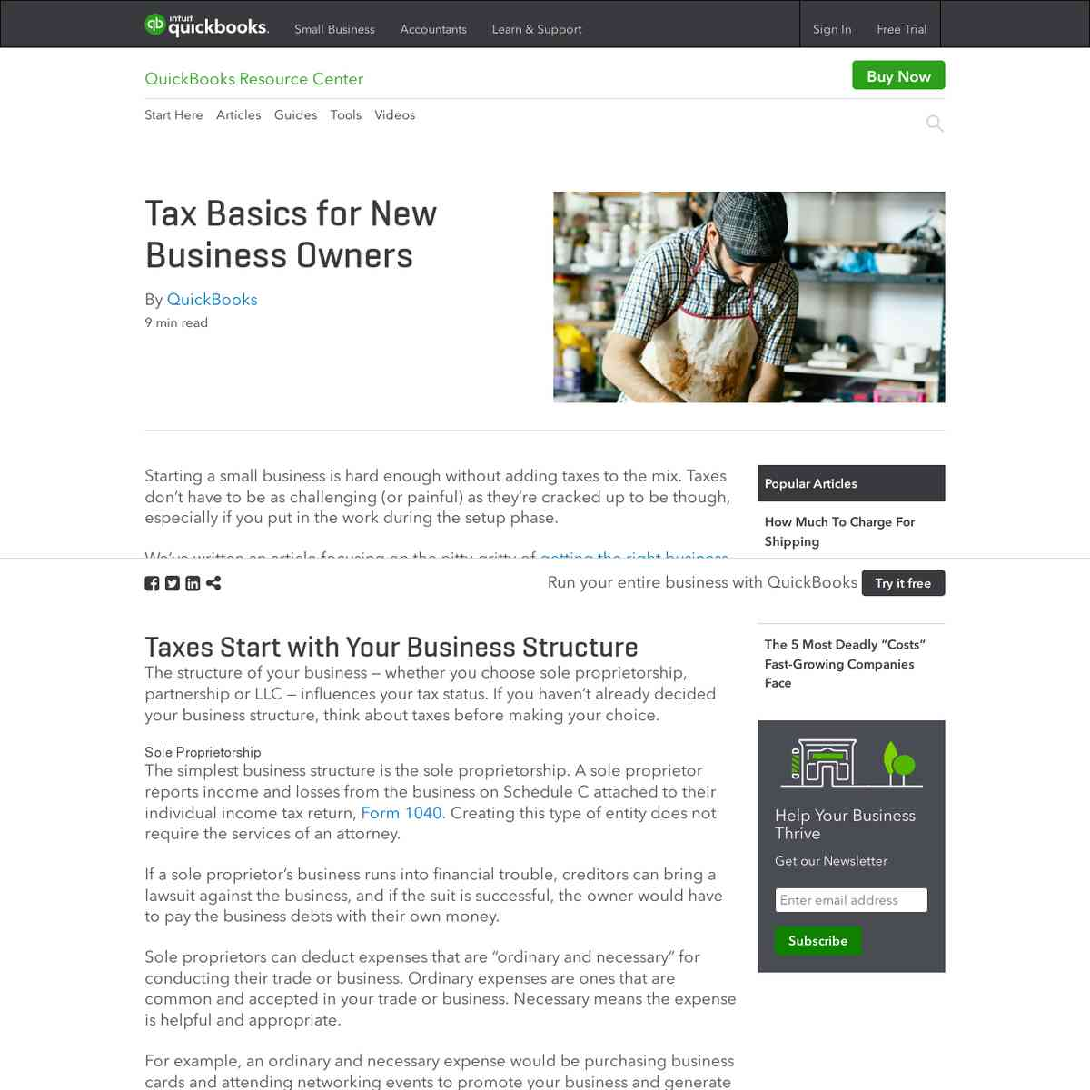 Tax Basics for New Business Owners | QuickBooks