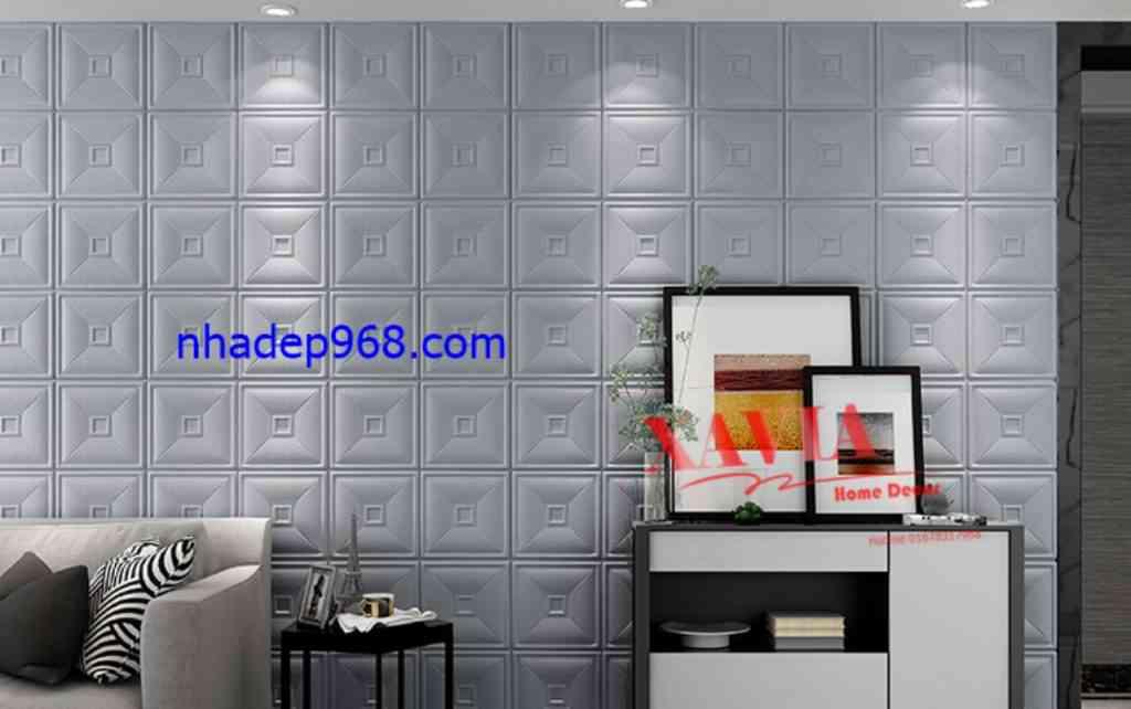 Trang trí nhà bằng xốp 3D dán tường giả da - Công Ty Vật Liệu Nhà Đẹp 968
