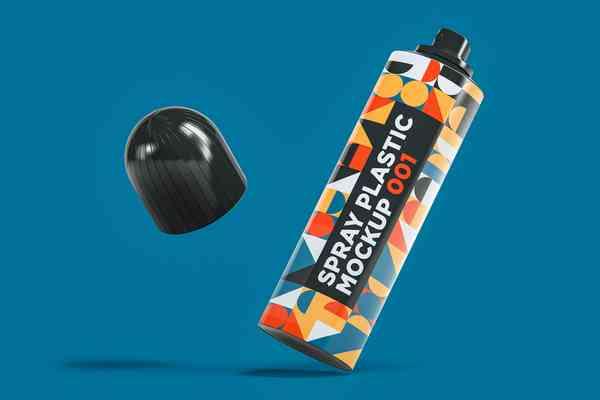 $ Spray Plastic Mockup