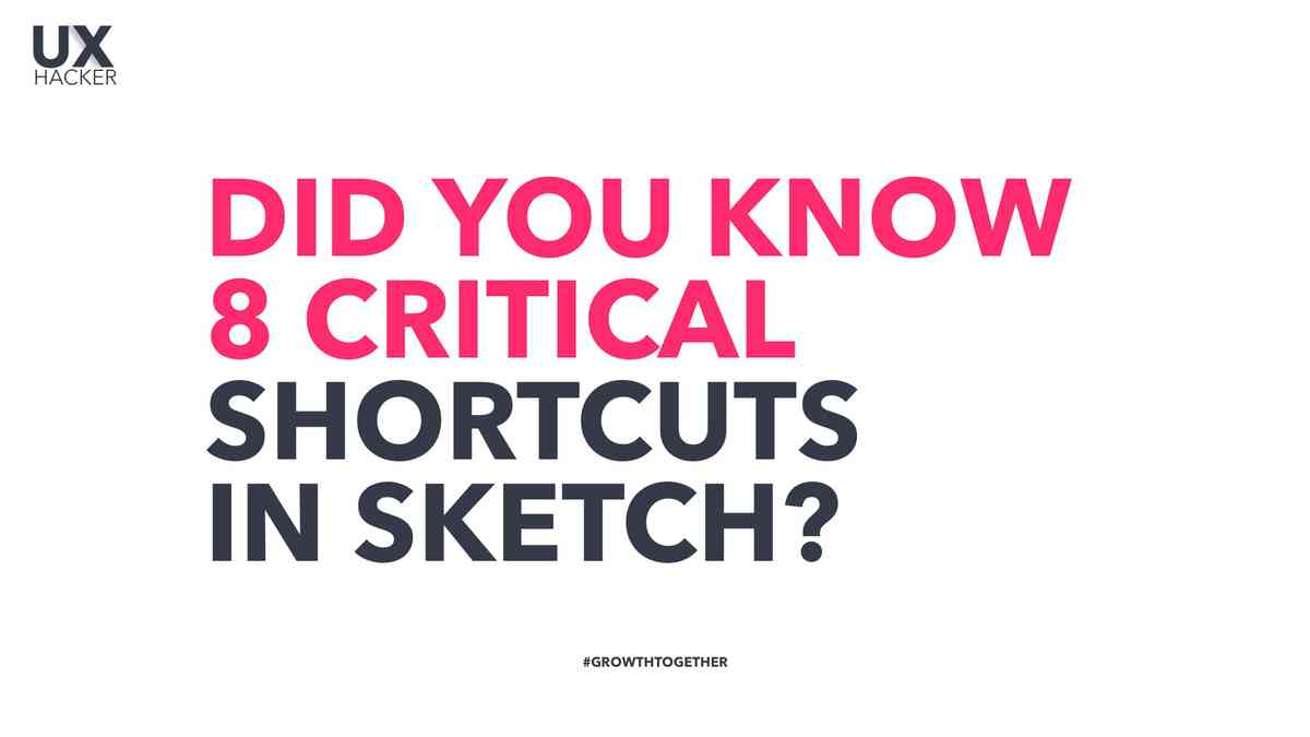 Did you know 8 critical shortcuts in Sketch? UX Hacker - YouTube