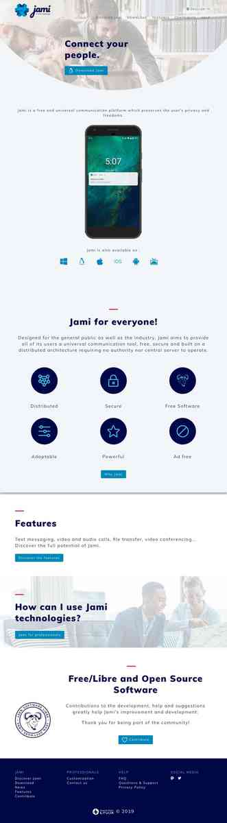 Jami - Free, federated communication platform