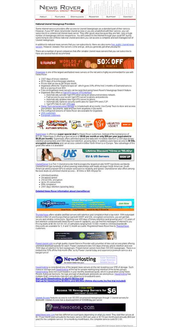 national usenet newsgroup providers