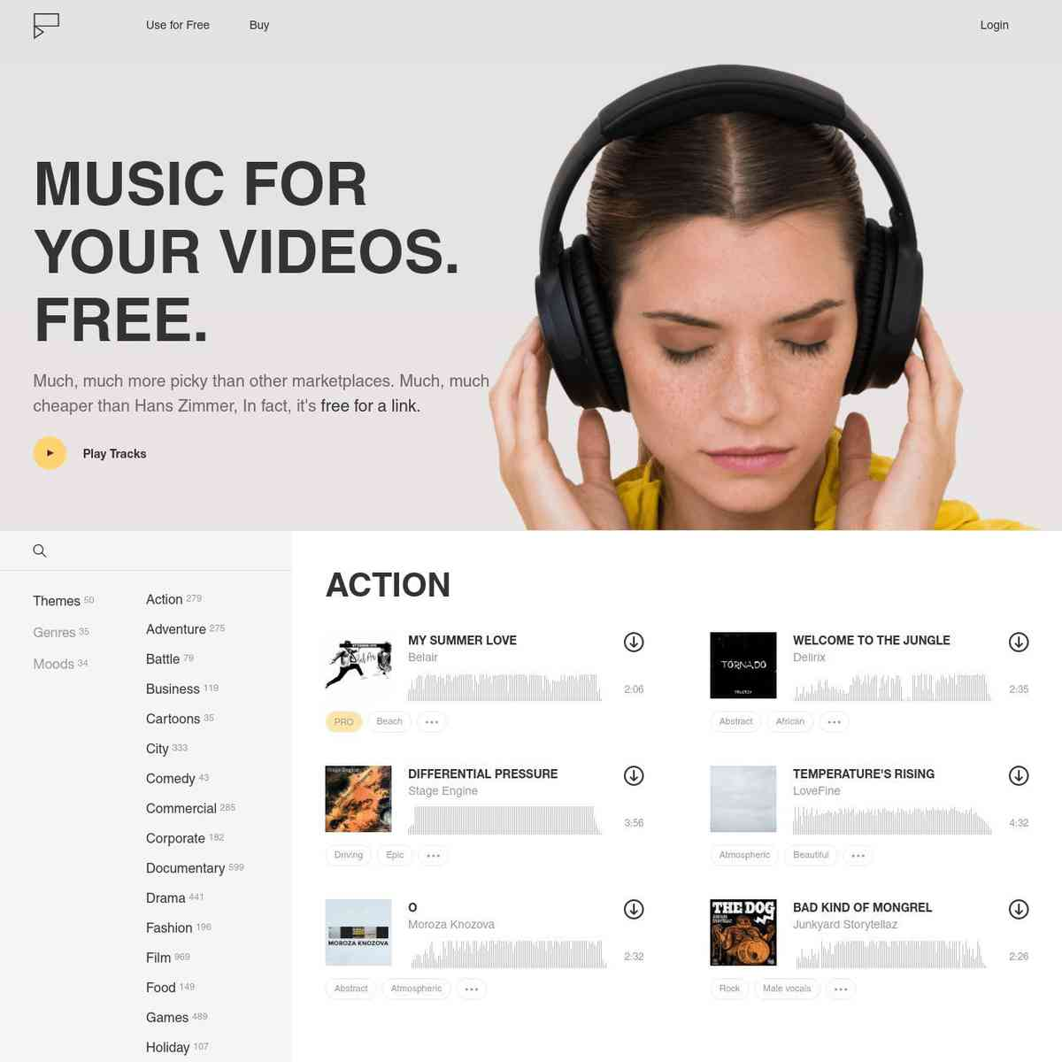Fugue - free music for your videos