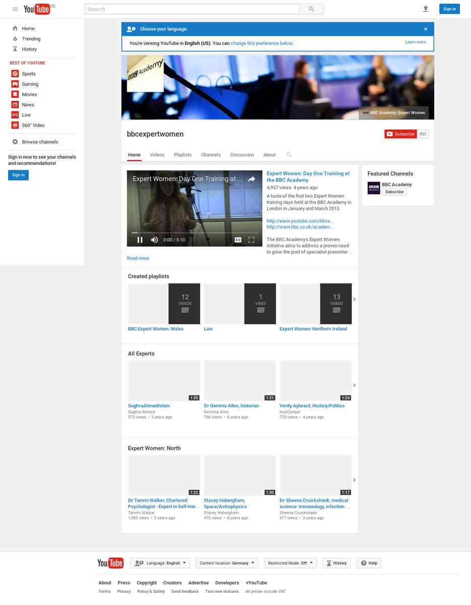 BBC Expert Women - YouTube