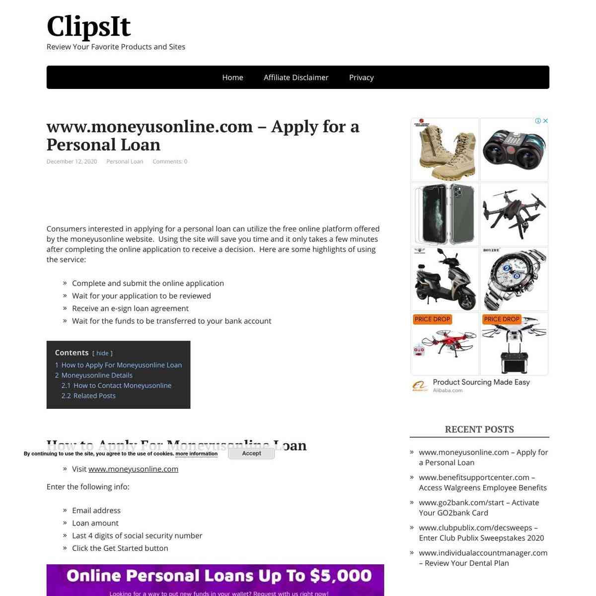 Moneyusonline apply for a personal loan